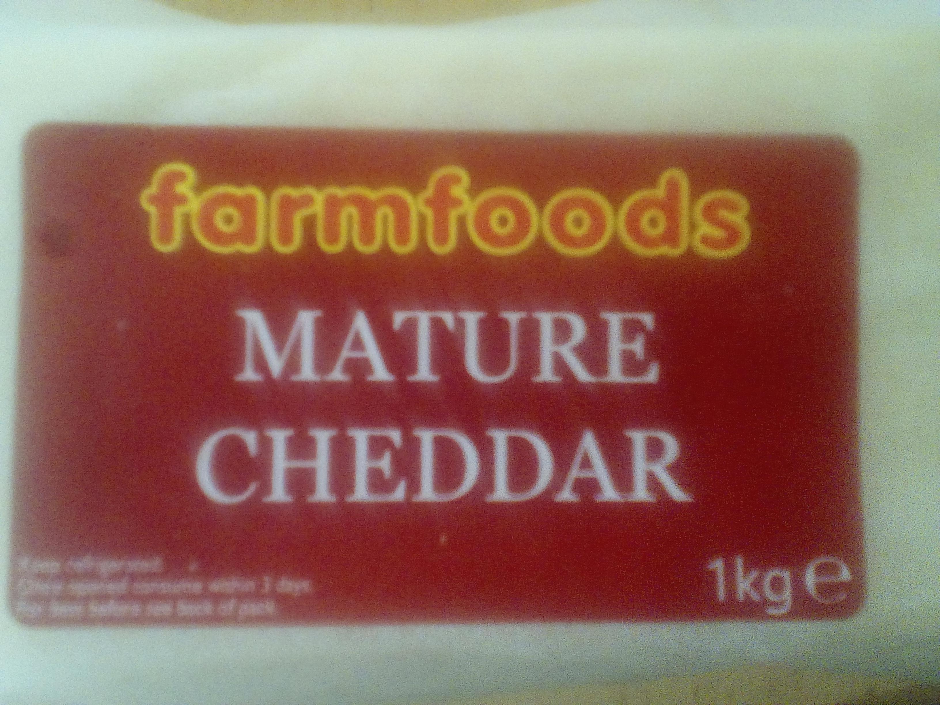 Mature Cheddar 1kg Farmfoods - £4.50