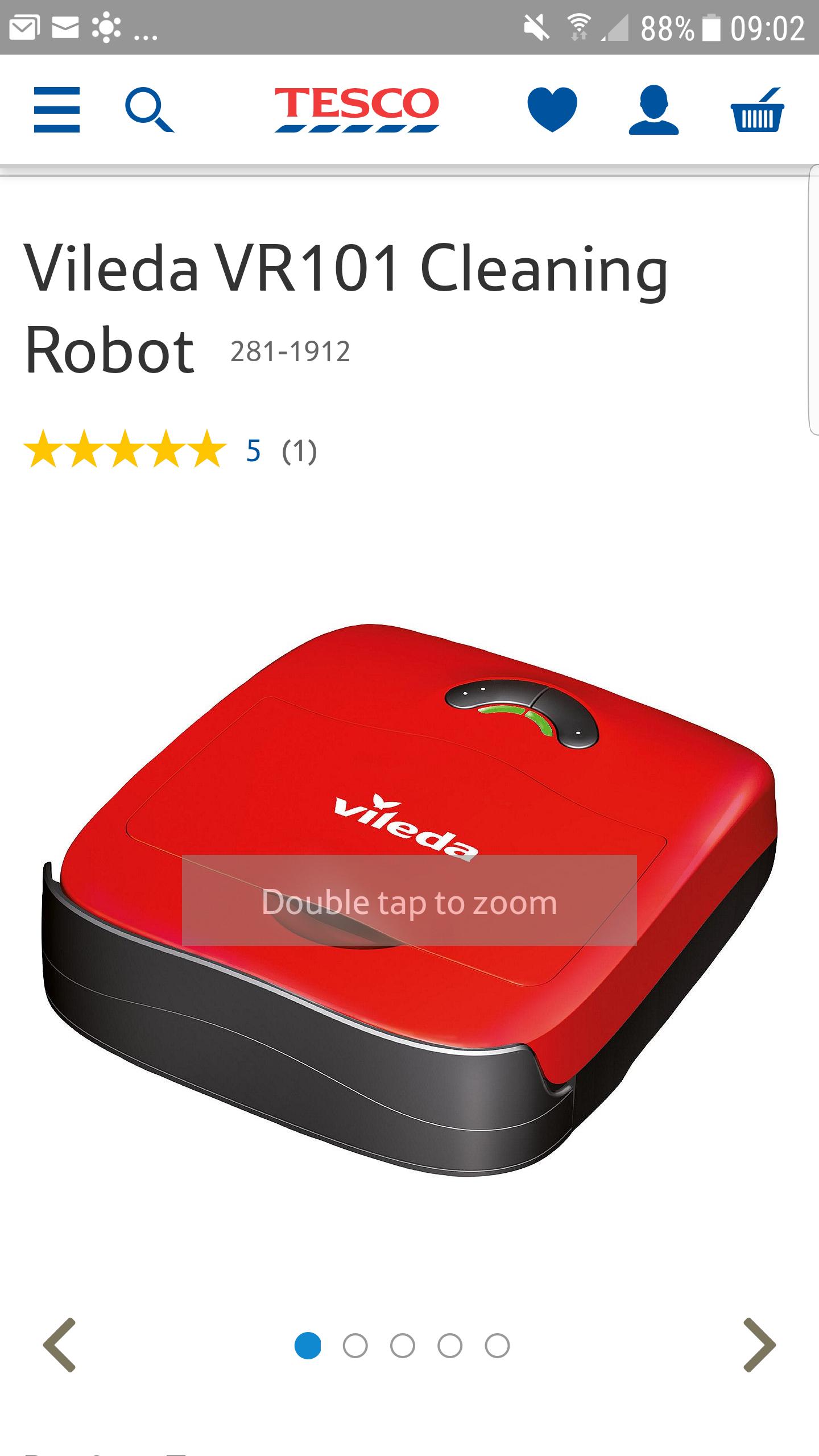 Vileda VR101 Cleaning RobotCatalogue Number:281-1912 - £74.50 @ Tesco Direct