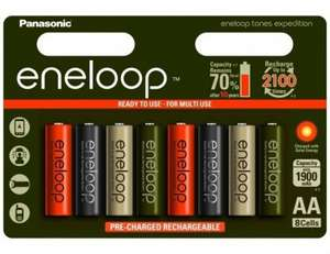 Panasonic Eneloop Expedition Limited Edition AAA Ni-Mh Ready to Use Rechargeable Batteries Min 750mAh - 8 Pack 7dayshop £11.99 delivered