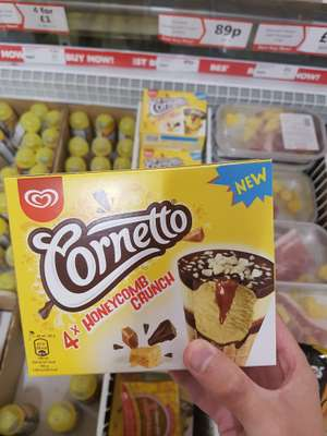 Cornetto honeycomb crunch 89p @ heron discount offer