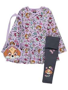 PAW Patrol Purple Dress & Leggings Outfit with Bag - £10 @ Asda (free C&C)