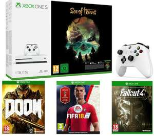 Microsoft xbox one S with 4 games and controller - £229.99 @ Currys