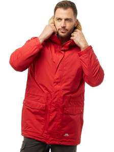 Trespass Mens Jaydin Insulated Waterproof Parka Jacket Red Reduced to £29.99 from £149.99 @ MandM Direct (+£4.49 P&P)