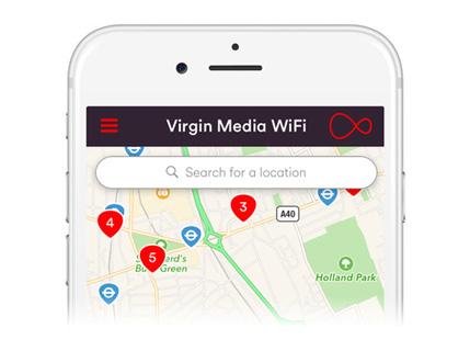Free 2 million+ Wifi Hotspots Across UK For Virgin Media Customers