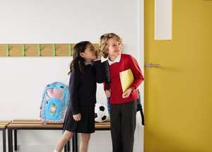 School uniform - Two polo shirts, one round neck jumper and a pair of trousers OR a skirt for just £5 @ Aldi