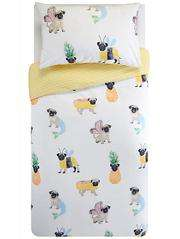 Pug Reversible Duvet Set - Single was £10 now £7 C+C @ Asda George