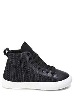 Faux snake skin hi top trainers (4 colours) now £8 delivered with code @ Single Price