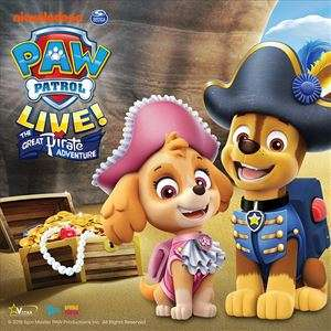 PAW Patrol 'The Great Pirate Adventure' Live Tour Ticket - 7 Locations normally from £26.25 now from £18 via Wowcher