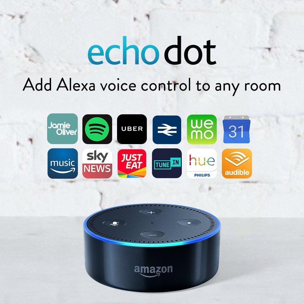 Amazon Echo Dot Certified Refurbished white or black - £29.99 @ Amazon