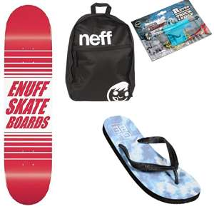 Cheap Skate Gear / Bags / Sunglasses / Footwear  - EG: Enuff Skateboard Deck + Griptape £16.98 / Globe Flip Flops £5.99 @ Skatehut (Free del over £40 - otherwise £1.99)