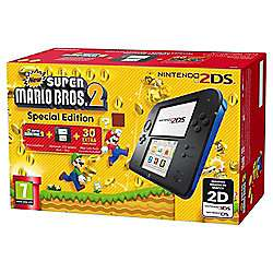 Nintendo 2DS Console (Black and Blue) with New Super Mario Bros. 2 - £56.00 - Tesco Direct