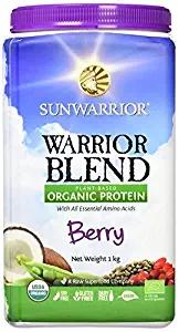 Sunwarrior Warrior Blend Organic Raw Vegan Protein Powder, Berry, 1kg £8.95 (Prime) £13.44 (Non Prime) - Amazon online