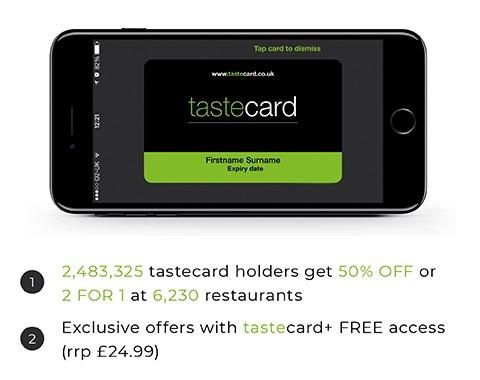 Tastecard 4 Months Free