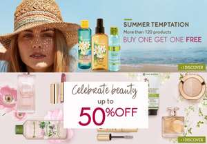 Upto 50% off sale + Free Gift on a £10 spend + 3 Free Samples and more offers @ Yves Rocher