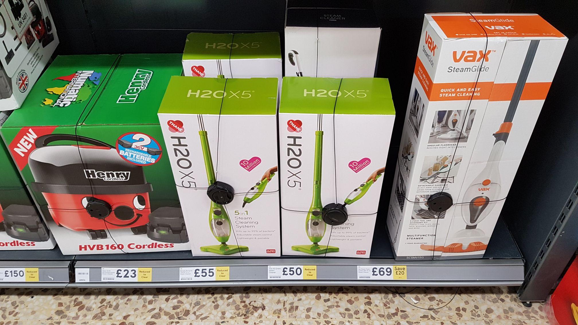 H2O X5 steam mop £50 in store at Milton Keynes Tesco