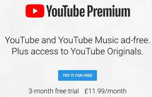 YouTube music and YouTube premium 3 months free.