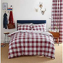 Catherine Lansfield Henley Check Red Duvet Cover Set - King - £9.95 @ TescoDirect / Sold by Childrens Rooms LTD