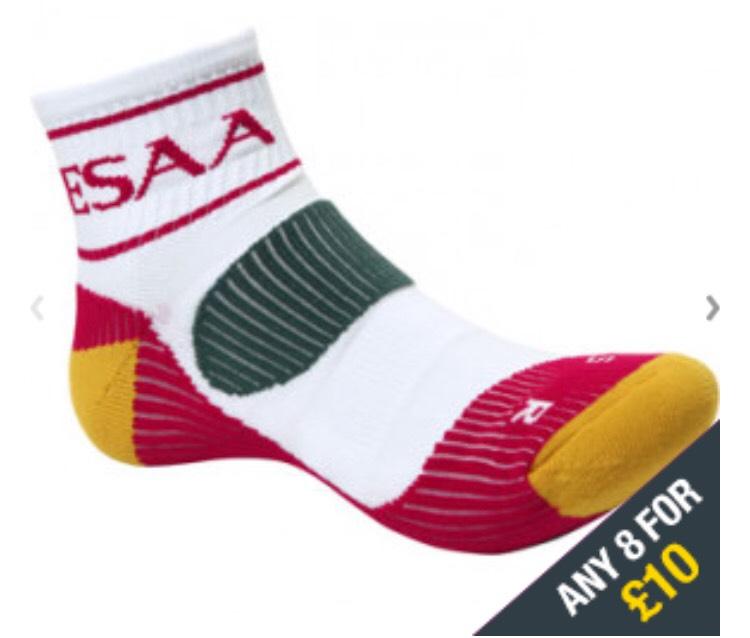 More Mile running ESAA socks 8 pairs for £10 plus £2.95 postage @ Start Fitness