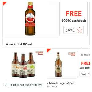 Football fever promotion,  2x free lager or cider from Tesco  @ Quidco Clicksnap and @ Checkoutsmart