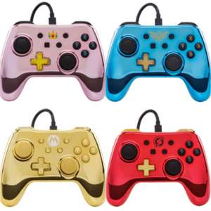 Nintendo Switch Wired Controller- Chrome (pre-order) £29.99 @ GAME