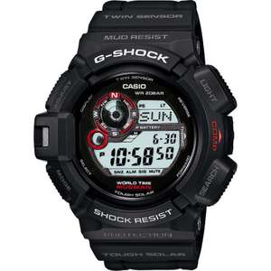 MENS CASIO G-SHOCK MUDMAN ALARM CHRONOGRAPH WATCH G-9300-1ER £87 with code at Watch Shop