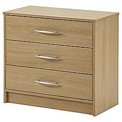 Kimpton 3 Drawer Chest, Oak £27 Tesco