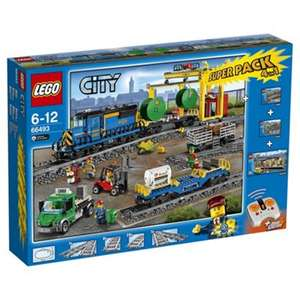 LEGO City 66493 Remote Control Cargo Train, Station, Tracks and Power Functions 4 in 1 Super Pack + Triple Points now £150 @ Tesco Direct