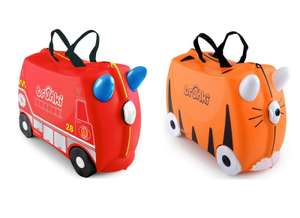 Trunki Frank the Firetruck Ride on or Tipu Tiger Ride on Suitcase for £24 @ Halfords (Free C&C)