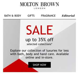 Molton Brown up to 35% off selected items
