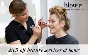 £15 off your first beauty services at home at blow LTD