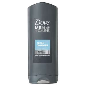 Dove Men+Care Body and Face Wash Clean Comfort 250ml £1.25 @ Wilkos