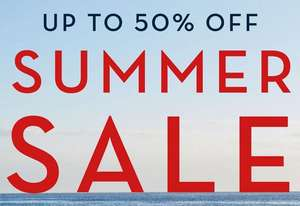 Up to 50% summer sale now on at Crew Clothing