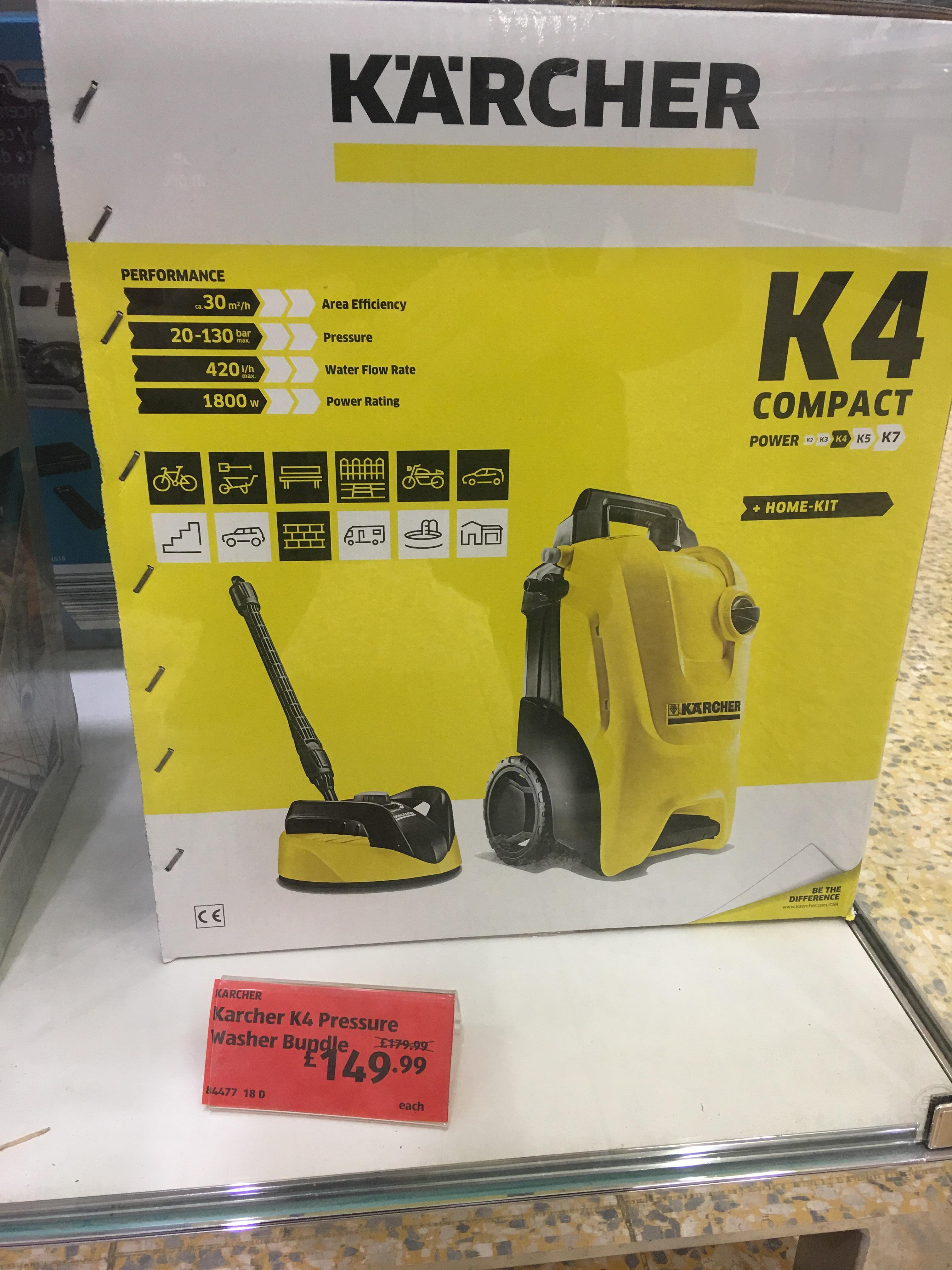 Karcher K4 Pressure washer bundle £149.99 @ Aldi instore