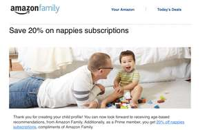 Set up amazon family and receive exclusive discounts
