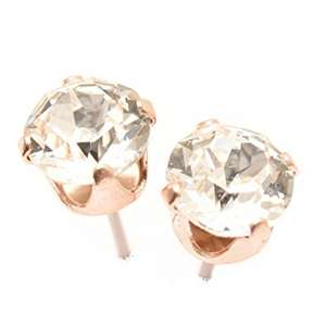 pewterhooter Rose Gold stud earrings expertly made with sparkling crystal from SWAROVSKI® - Sold by PewterHooter / Fulfilled by Amazon - £3.99 Prime / £8.94 non-Prime