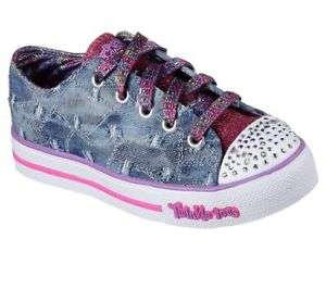 NEW SKECHERS Girls Sneakers Memory Foam STEP UP- DIGGIN' DENIM Denim *light up* - £25.99 @ eBay (store: limaluk-skechers)