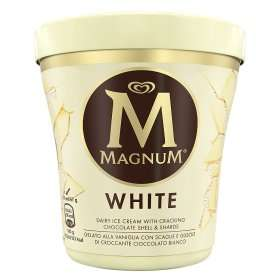 Magnum Tub White Ice Cream other flavours on offer see post online and instore £2.25 @ Asda