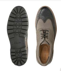 Batcombe Wing men's brogues Dark grey leather for £39 Delivered @ Clarks
