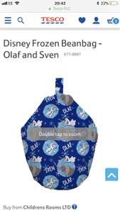 Frozen Olaf beanbag reduced to £9.95 at Tesco Direct free click and collect