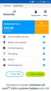 Free Boiler Cover and Service with British Gas. £20.50pm x 6 months = £123, but £125 back.