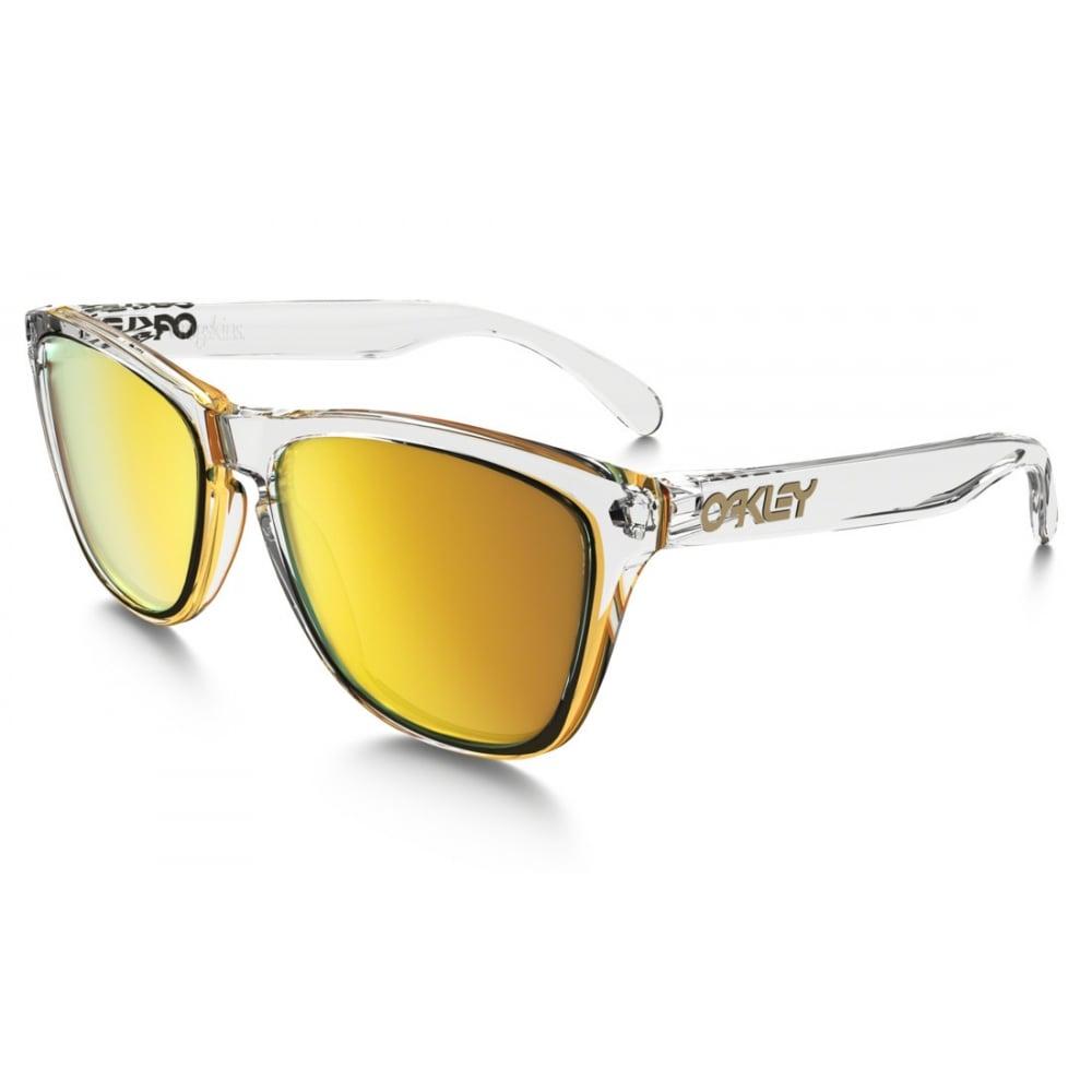 Cheap Oakley Frogskins sunglasses such as 24k lenses transparent frame. £60.80 @ Igero delivered