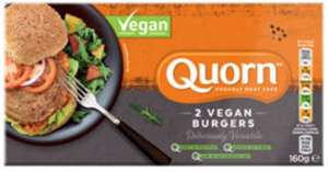 2 Meat Free Vegan Burgers by Quorn - Asda £1.50