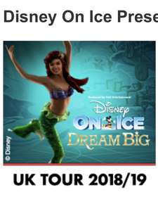 Disney on Ice early booking code and £3 off per ticket