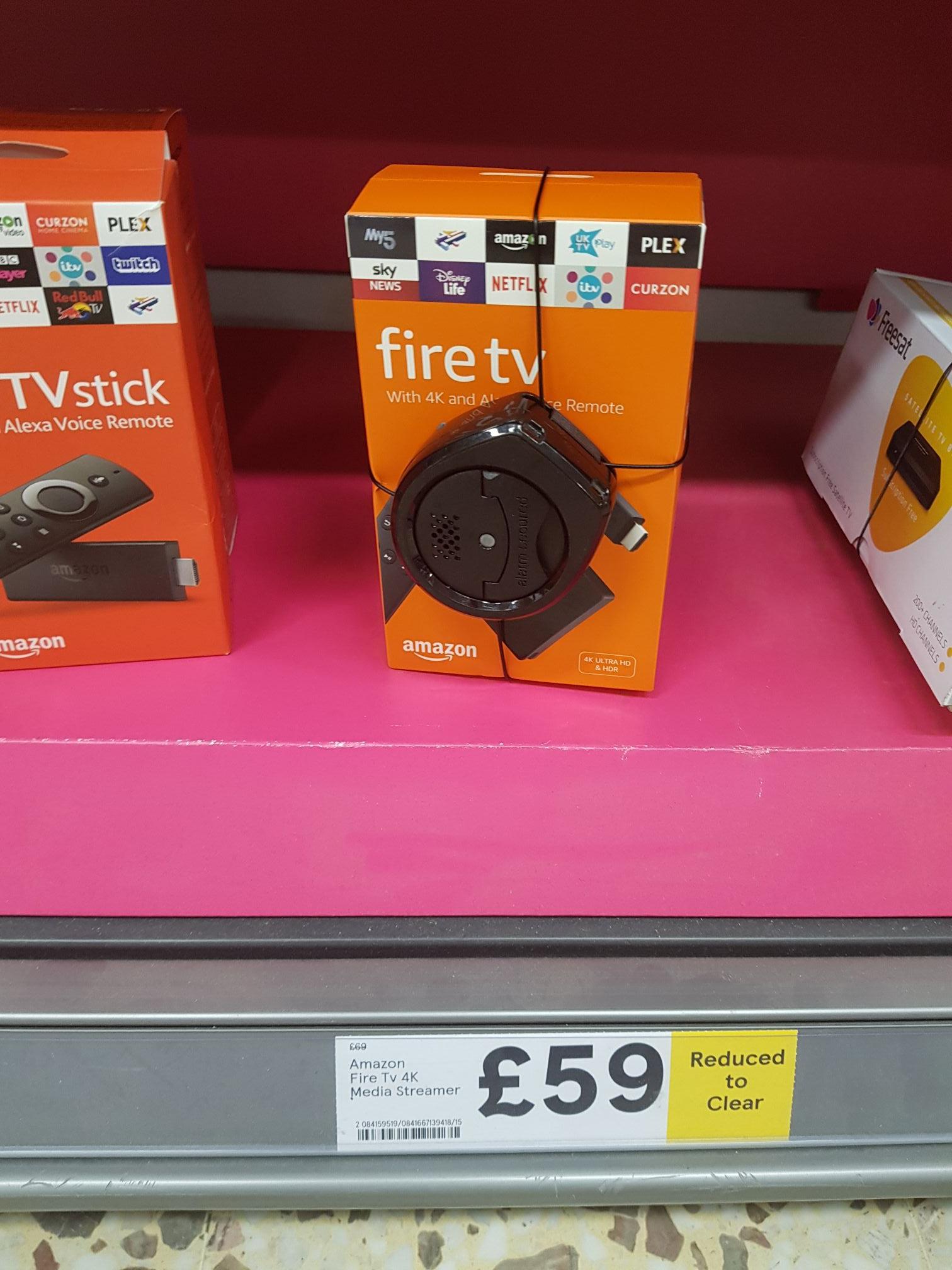 Amazon Fire TV 4K Streamer £59 Tesco instore