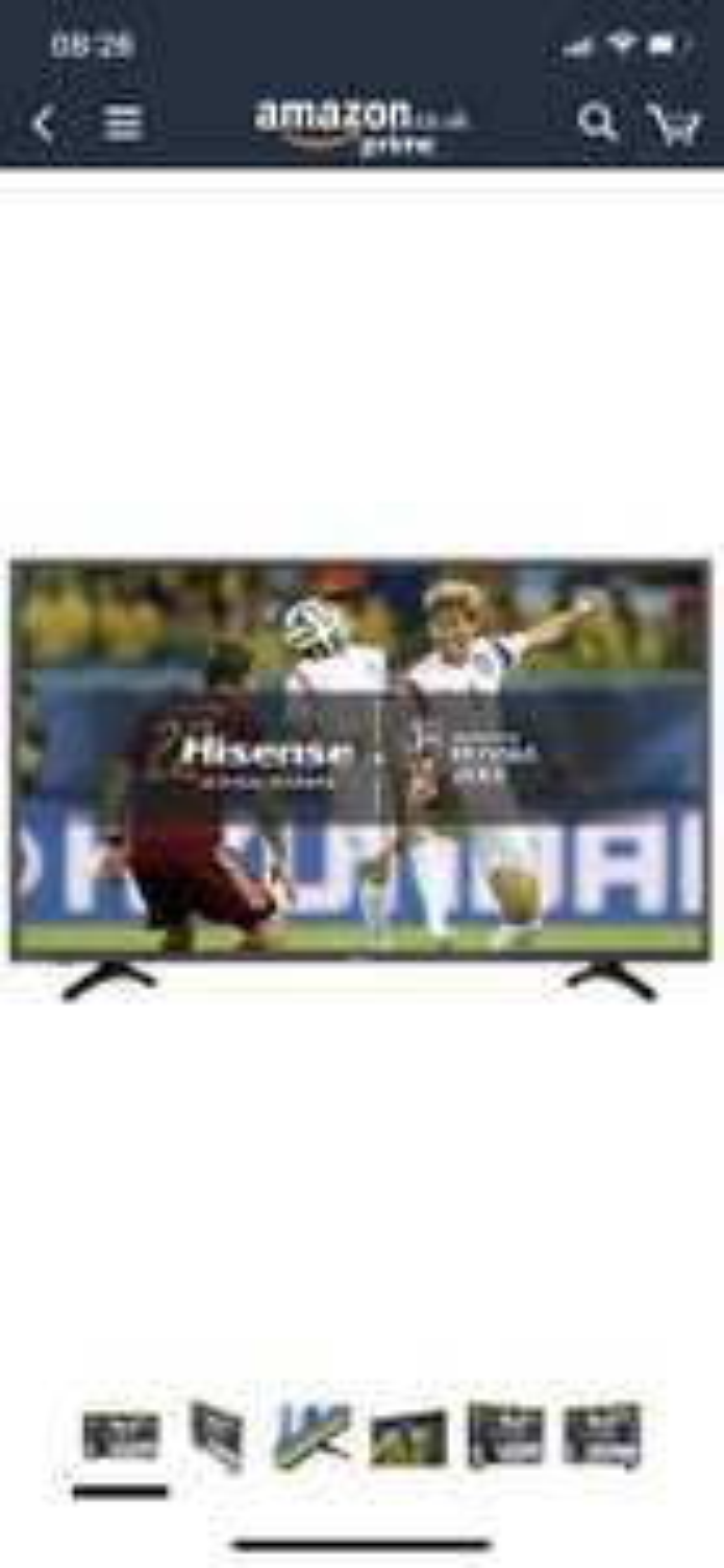Hisense H43N5500UK 43inch 4K UHD Smart TV - Black (2017 Model) £260.66 Amazon