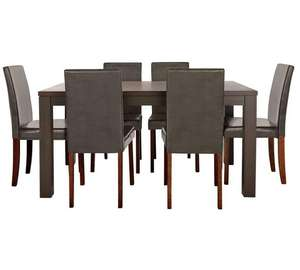 HOME Pemberton Oak Veneer Dining Table & 6 Chairs for £164.99 @ Argos (P&P £6.95)
