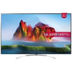 LG 55SJ850V 4K Smart Tv with 5 Year Warranty and Free Blu-ray Player £659.00 John Lewis