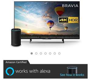 Sony Bravia KD43XE8004 43 inch TV, Black with All New Echo (2nd Generation), Charcoal Fabric Bundle £539 @ Amazon