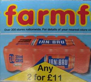 48 x 330ml cans - irn bru for £11 @ Farmfoods