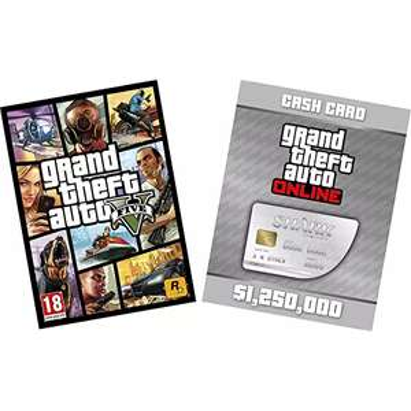 GTA V & White Shark Card [PC Code]  £19.11 @ Amazon | Base game only £13.20 | Rockstar Game Sale & DRM